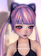 剑灵模型组美女版主制作 黑猫耳发箍