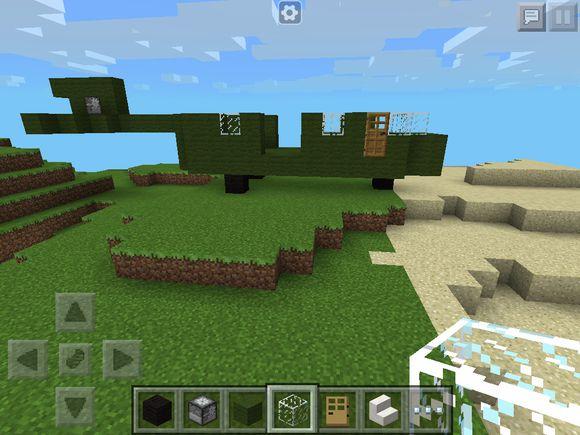 我的世界手机版直升机建造教程