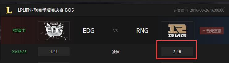 外围分析LPL总决赛 RNG不被看好