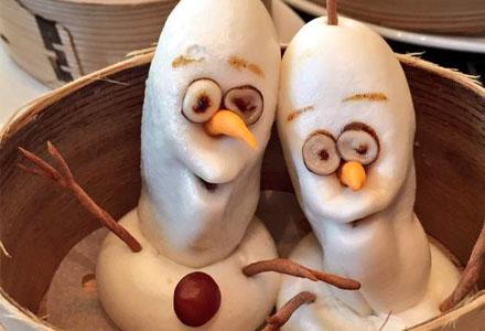 《冰雪奇缘》超诡异的雪宝点心,对于吃货来说毫无压力!