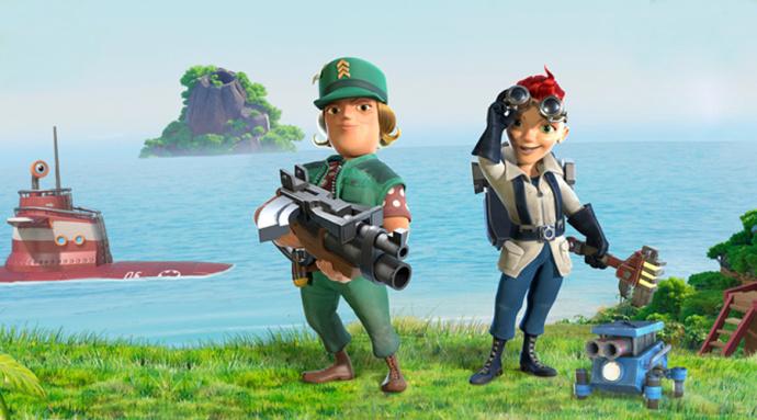 磊磊视频:海岛奇兵新英雄布里克与伊娃解析