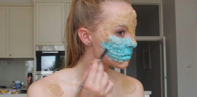 视效牛逼胆小勿入!澳洲16岁女孩自学超恐怖化妆术