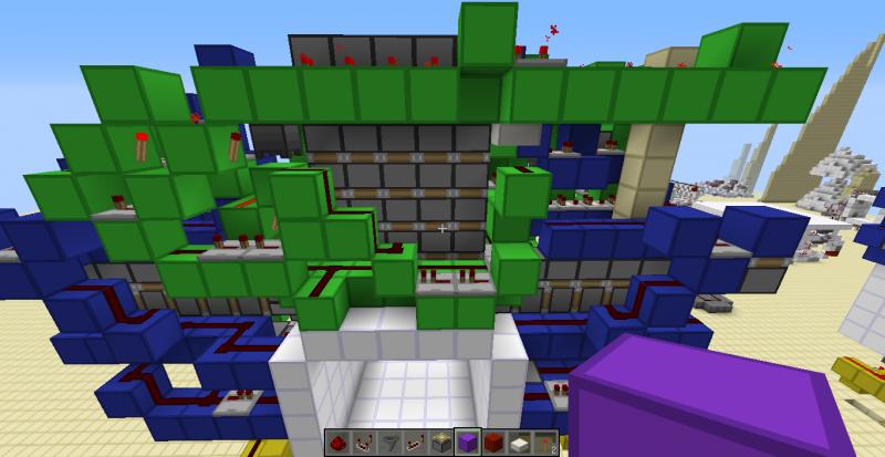 我的世界简单机械制作之5x5活塞玻璃门