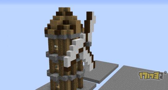 我的世界海外大神作品欣赏:简易搭建的风车