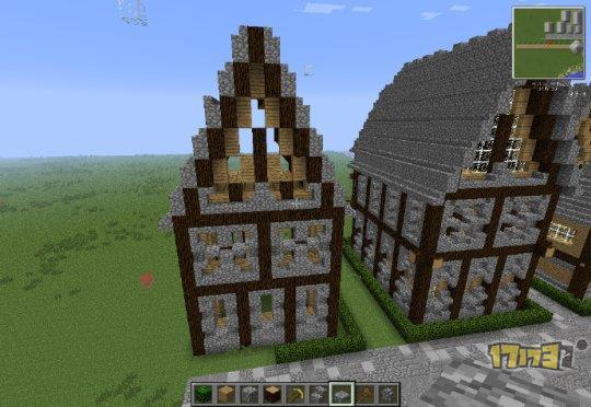 建筑课堂:我的世界中世纪房子建筑教程1
