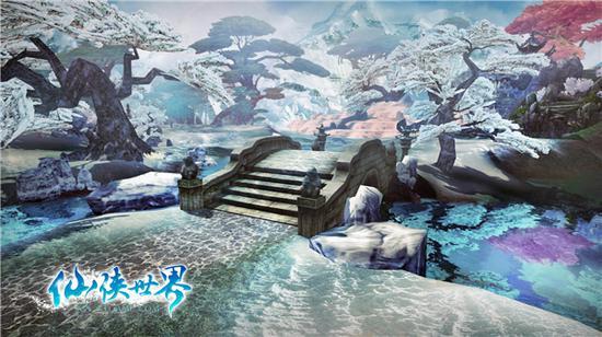 银装素裹江山多娇 《仙侠世界》雪景