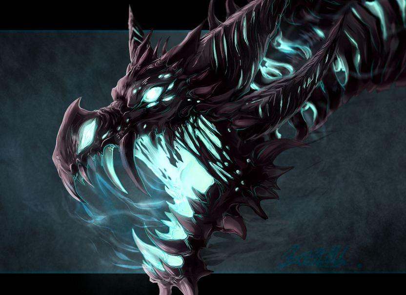 魔兽玩家原创画作:直扑而来的冰霜巨龙图片