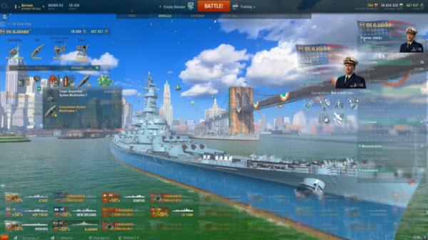 战舰世界 8级金币战列舰 阿拉巴马