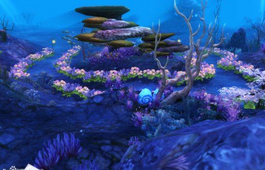 倩女2海底世界家园领地景观摆设分享