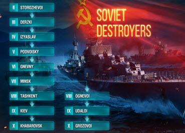 毛驱苏驱二线出来了 2017是战舰世界驱逐年?