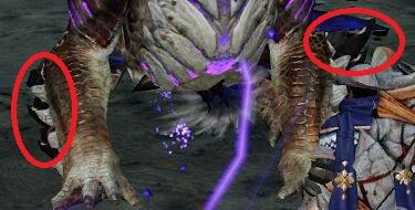 三阶段时完整的手臂白色尖爪-黑色尖爪-蓝紫色鳞