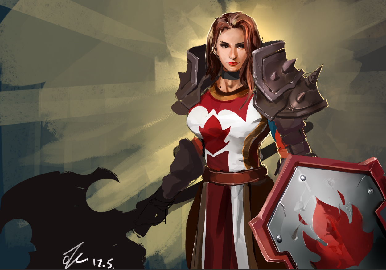 原创作品:血色十字军第一女神大将军阿比迪斯