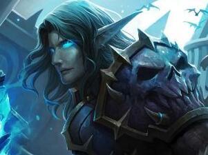 玩家原创画作:冰冠堡垒城下的血精灵死亡骑士