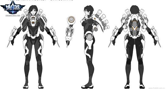 《火瀑》精美游戏手绘原画 人物细节设定欣赏