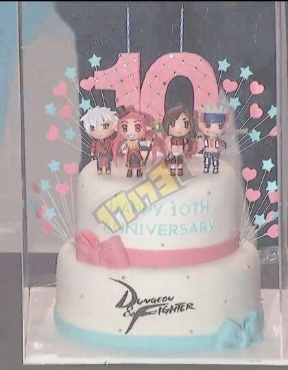 超可爱的十周年生日蛋糕