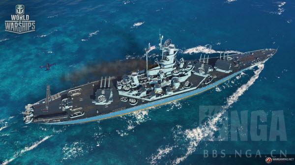 战舰世界 WG发卫星了 BB-60 亚拉巴马