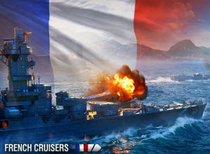 战舰世界0.6.3法系巡洋舰全线高清图欣赏