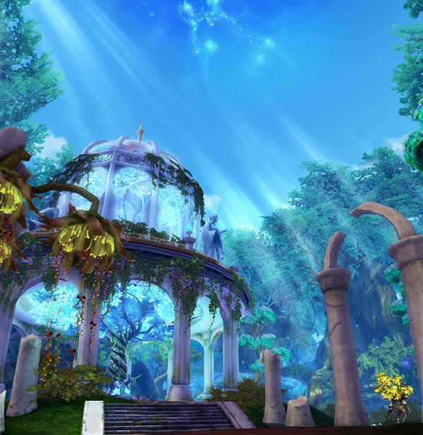 天族唯美风景展示守卫心中的蔚蓝天空