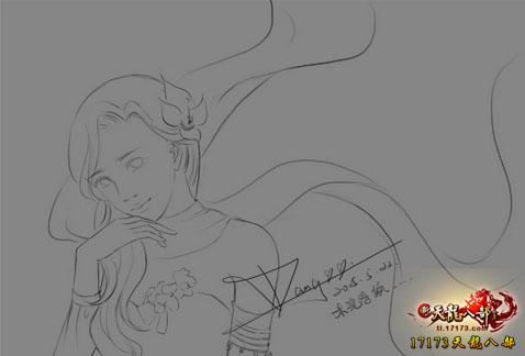 天龙八部玩家原创手绘真爱版:为你披上一袭嫁衣