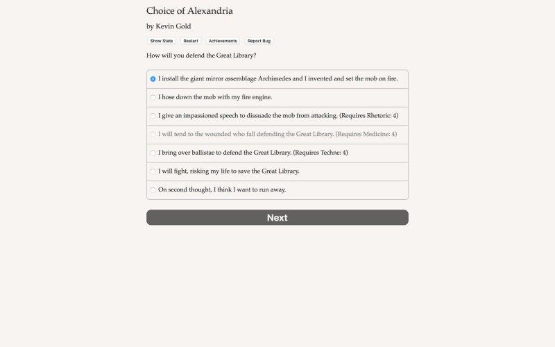 Choice of Alexandria截图第1张