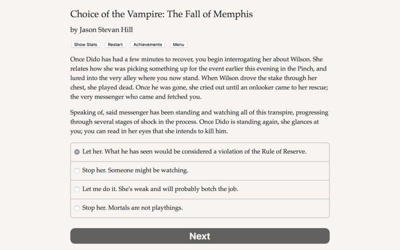 吸血鬼的选择:孟菲斯的堕落截图第4张