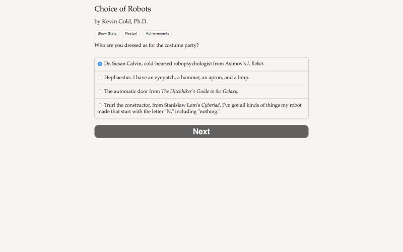 机器人的选择截图第2张