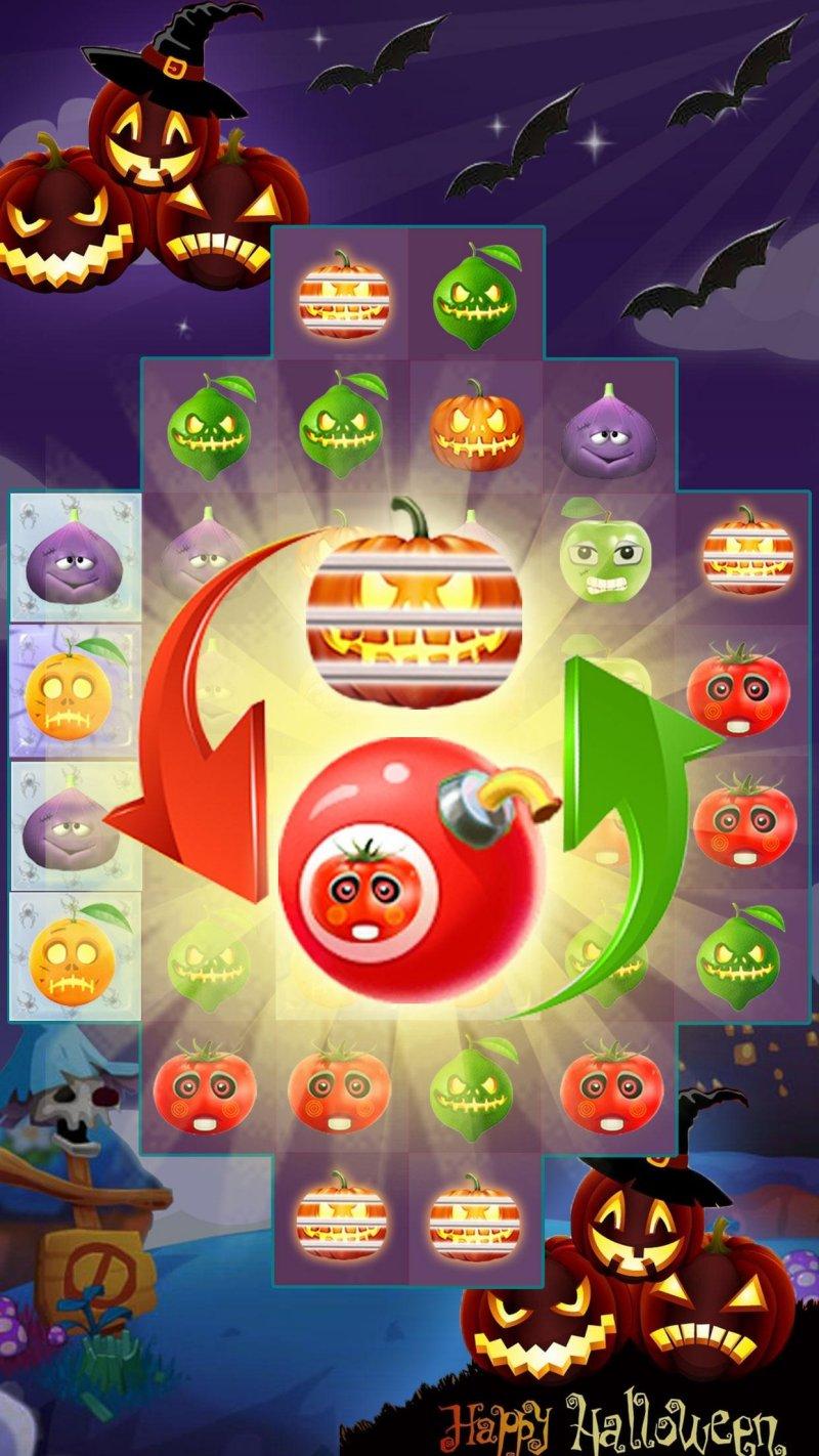 Fruit Halloween Match 3截图第4张