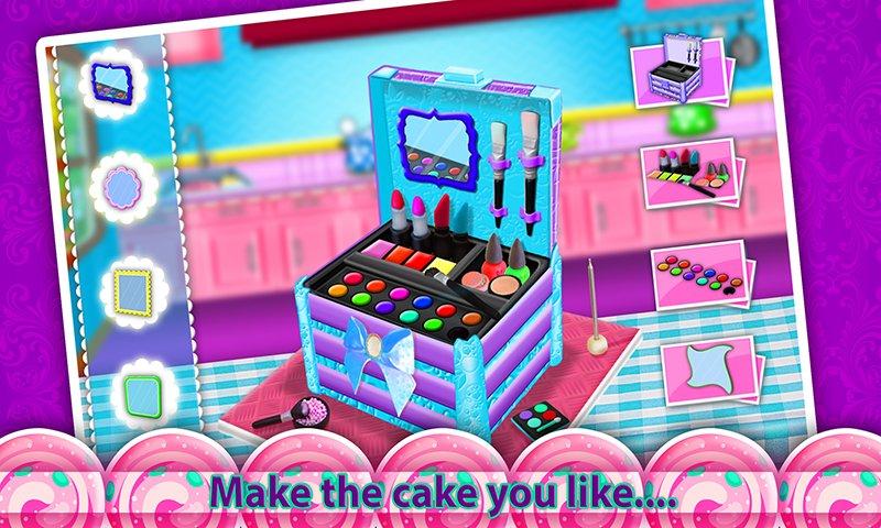 公主化妆盒蛋糕制造商!烹饪游戏截图第4张