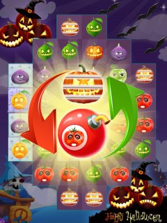 Fruit Halloween Match 3截图