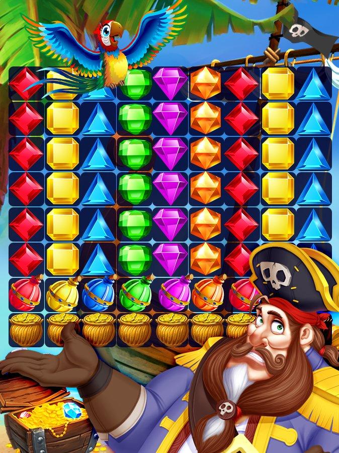 海盗战争:宝石匹配⚓截图第2张