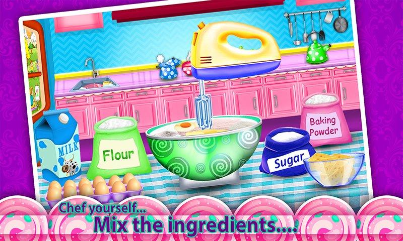 公主化妆盒蛋糕制造商!烹饪游戏截图第2张