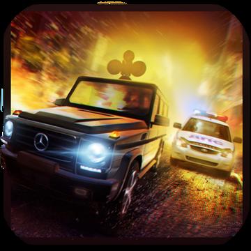 犯罪与警察 - 射击赛车3D