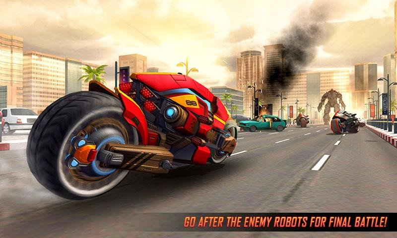 Flying Robot Bike : Futuristic Robot War截图第1张