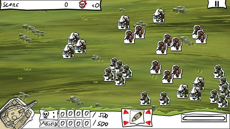 纸片战争摧毁炮灰截图第2张